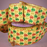Luxurious Wide Christmas Solid Fabric Wired Ribbon
