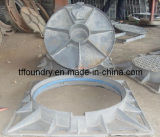 Round Manhole Cover with Square Frame