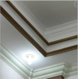 White PU Decorative Cabinet Crown Moulding Line for Plain Panel