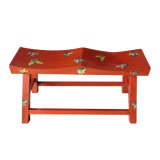 Chinese Antique Painted Wooden Stool Lws043