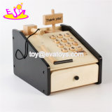 Multi-Function Educational Toys Wooden Pretend Play Toys Cash Register for Kids W10A066