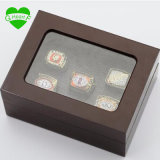 Factory Sales Ring Sets with Wooden Boxes Replica Super Bowl Copper 5PCS/Packs Washington Redskins Championship Ring