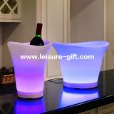 Fo-9537 LED Wine Holder with Leather, Plastic Beer Bucket, Wine Cooler