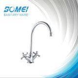 Zink Handle Brass Body Double Handle Sink Kitchen Faucet (BM57505)