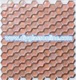 Pink Hexagon Glass Stone Mesh bathroom