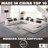 Norway Top Grain Genuine Leather Sofa (Lz2212)