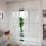 Modern Style Solid Woven Voile Sheer Curtain