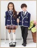 Cotton School Uniform Boy′s Navy Pocket Long Sleeve Blazer Wholesale