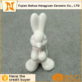 White Ceramic Cute Rabbit for Easter Gift