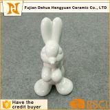 White Ceramic Cute Rabbit for Easter Gift