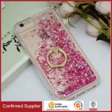 Multifunctional Flowing Quicksand Liquid Glitter Soft TPU Cover with Kickstand