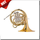 F 3keys Gold Lacquered Single French Horn (FH7033G)