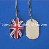Custom UK Flag Dog Tag Necklace