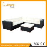 Outdoor Garden Balcony Furniture Black Wicker Home Use Corner Sofa Set