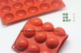 Food Grade Large Rectangle 15 Cavities Half Ball Chocolate Molds, Silicone Ice Cube Trays