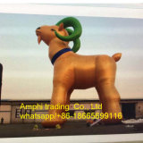 Model Type Cartoon Model Type Inflatable Gloden Goat Model for Outdoor