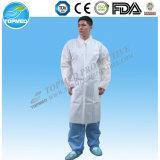 Waterproof PP+PE Lab Coat, Disposable PP+PE Lab-Gown