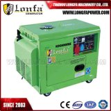 7kVA Portable Silent Soundproof Three Phase Electric Diesel Generator Set with Four Wheels