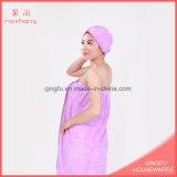 Super Soft Wearable Coral Fleece Bath Towel Set
