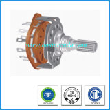 25mm Metal Shaft Carbon Film Rotary Route Switch