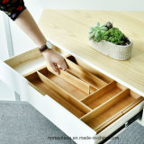 Expandable Bamboo Drawer Organizer with Adjustable Dividers