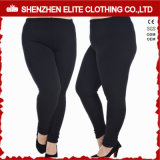 Womens Black Yoga Clothing Leggings in Plus Size (ELTFLI-23)