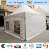 6X6m White PVC Marquee with 2 White Sidewalls and 2 Windows Sidewalls with Windows Covers