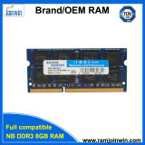 Low Density 1600MHz 8bits 512mbx8 DDR3 8GB RAM SODIMM