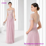 Elegant Decorous Fine Tulle and Lace Silky A Line Mother of The Bride Dress with Waist Band