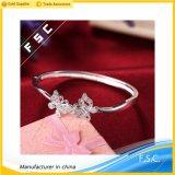 Fashion Jewelry Double Butterfly Pretty Bangle Bracelet Made with CZ