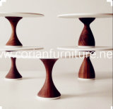 Wood Base Solid Surface Marble Top New Design Reataurant Table