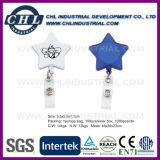 Factory Direct Wholesale Plastic Star Shape Badge Holder with Logo