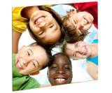 """Aluminum Square Plate Photos for Children Smile 10 """"× 10"""""""