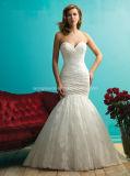 Ivory Lace-up Bridal Gown off-Shoulder Wedding Dress