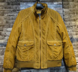 Fashion Yellow New Design PU Leather Jacket Clothing for Men