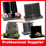 Granite Books Scrolls Headstone Tombstone Upright