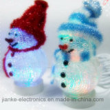 Christmas Colorful USB Snowman Nightlight with Logo Print (5004)