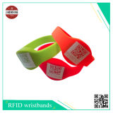 RFID Silicone Band with Different Qr Code, Logo Made by Silkscreen Printing