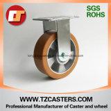 Fixed Caster with Heavy Duty PU Wheel Aluminum Center 125*50