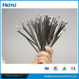 100PCS 6 Inches Stainless Steel Exhaust Wrap Coated Locking Cable Zip Ties