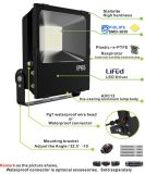 Outdoor IP65 Low Luminous Decay Philips SMD LED Floodlight with TUV, UL, ETL, SAA, Ce, RoHS Cerificate