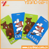 Customized PVC Rubber Luggage Tag for Bag (YB-LY-LT-32)