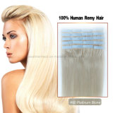 #60 Platinum Blonde Tape Hair Extension