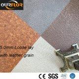 5.0mm Leather Grain PVC Vinyl Tile / Loose Lay / Free Lay Flooring
