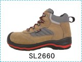 Upper Suede Leather Sole PU/Rubber Work Safety Shoe