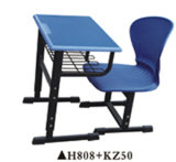 Hot Sales Plastic School Chair and Desk with High Quality H808+KZ025