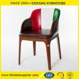 Fashion Restaurant PU Seat Arm Dining Chair