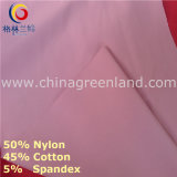 Nylon Cotton Spandex Ponte Roma Knitted Fabric for Textile Garment (GLLML233)