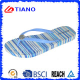 Colorful Summer Outdoor PVC Beach Slipper of Flip Flops for Lady (TNK10006-1)