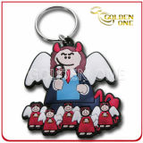 New Design Silk-Screen Silicone Soft PVC Keychain